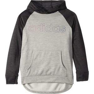 Adidas Girl's Youth Color Block Hooded Sweatshirt